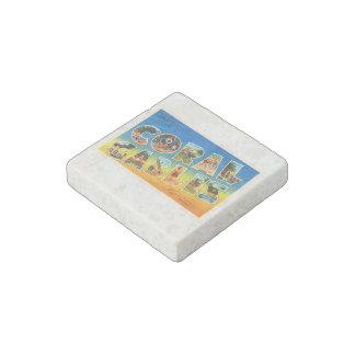 Coral Gables Florida FL Vintage Travel Souvenir Stone Magnet