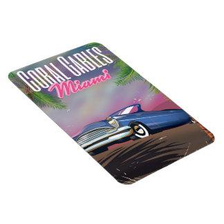 Coral Gables Florida USA 80s travel poster Magnet