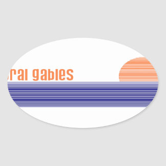 Coral Gables Oval Stickers