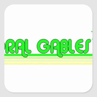 Coral Gables Square Sticker
