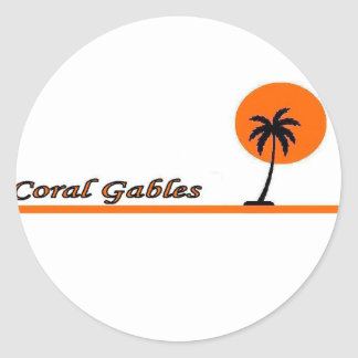 Coral Gables Round Stickers