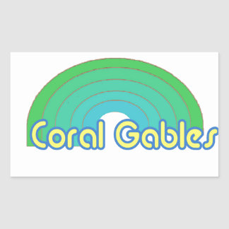 Coral Gables Rectangle Sticker