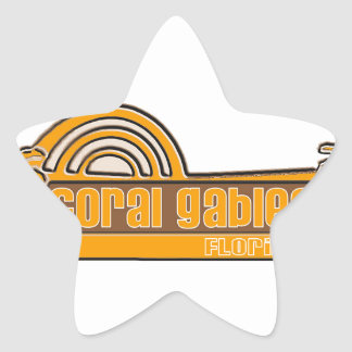 Coral Gables Star Stickers