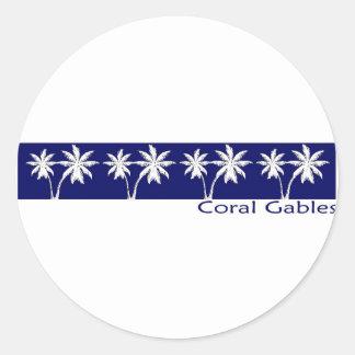 COral Gables Round Sticker
