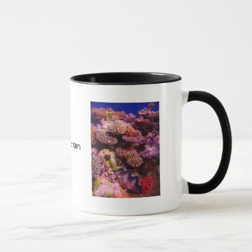 Coffee Themed Coral Garden Coffee Cup