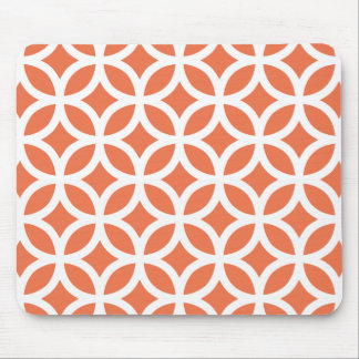 Coral Geometric Mouse Pad