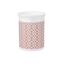 coral geometric pattern beverage pitcher