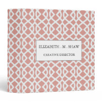 coral geometric pattern binder