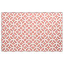 Coral Geometric Pattern Fabric