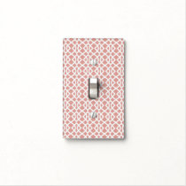 coral geometric pattern light switch cover