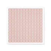 coral geometric pattern napkin