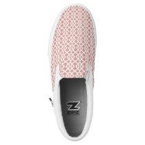 coral geometric pattern Slip-On sneakers