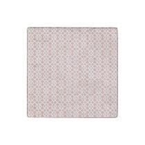 coral geometric pattern stone magnet