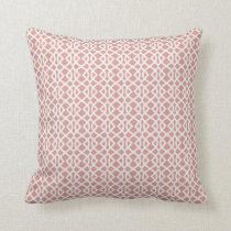 coral geometric pattern throw pillow