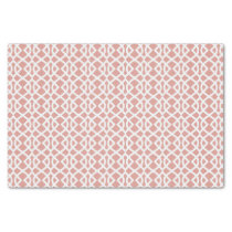 coral geometric pattern tissue paper