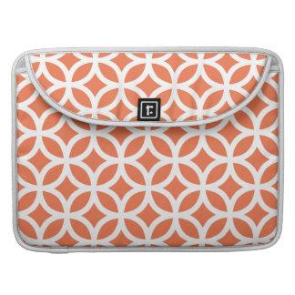 Coral Geometric Sleeve For MacBooks