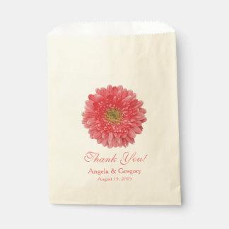 Coral Gerber Daisy Candy Buffet Wedding Favor Favor Bags