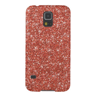 Coral Glitter Printed Galaxy S5 Case
