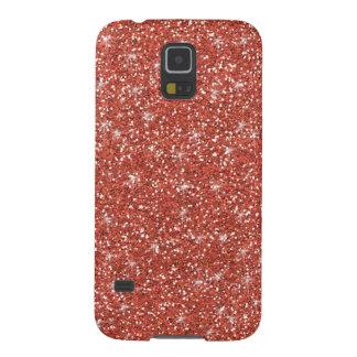 Coral Glitter Printed Galaxy S5 Case