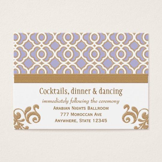 Coral Gold Moroccan Reception Enclosure Cards