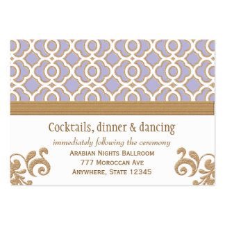 Coral Gold Moroccan Reception Enclosure Cards Business Cards
