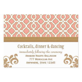 Coral Gold Moroccan Reception Enclosure Cards Business Card