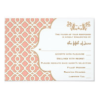 Coral Gold Moroccan Wedding RSVP Response Cards (<em>$1.96</em>)