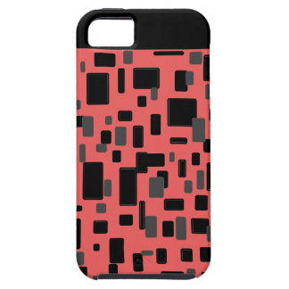 Coral gray black geometric pattern iPhone SE/5/5s case