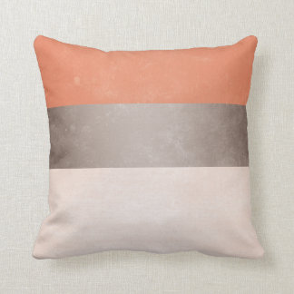 coral pillows coral gray broad stripes throw pillow