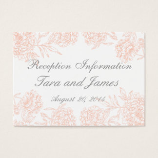 Coral Gray Vintage Wedding Reception Insert Card