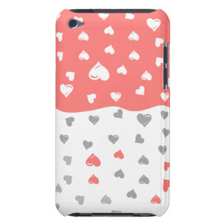 coral  grayhearts .ai iPod touch Case-Mate case