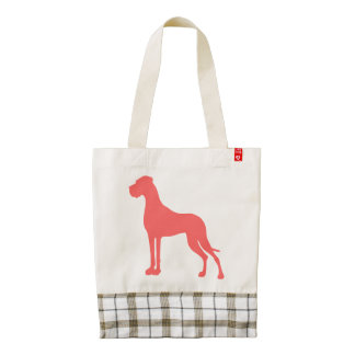 Coral Great Dane Zazzle HEART Tote Bag