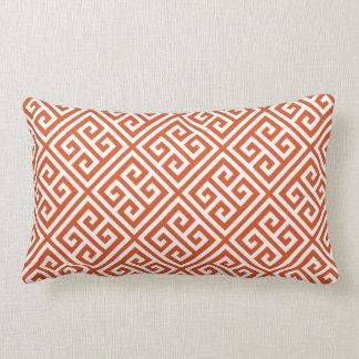 Coral Greek Key Pattern Pillow