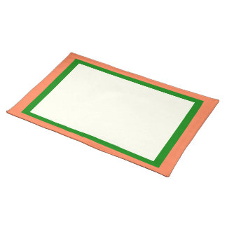 Coral Green and Ivory Placemat