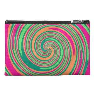 Coral Hot Pink Green Whirlpool Swirl Lollipop Desi Travel Accessories Bags