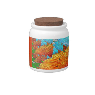 Coral Illustration Candy Dish