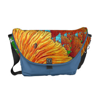 Coral Illustration Courier Bag
