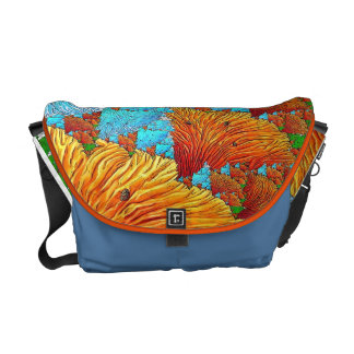 Coral Illustration Messenger Bag