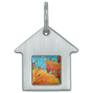 Coral Illustration Pet Name Tag