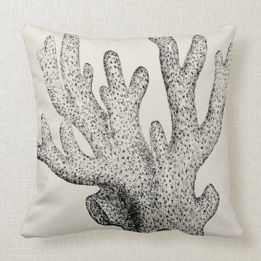 Beach Themed Coral in time pillow