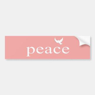 Coral Inspirational Peace Quote Car Bumper Sticker
