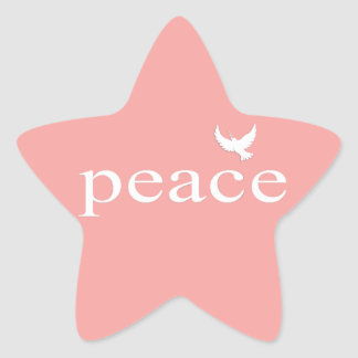 Coral Inspirational Peace Quote Sticker