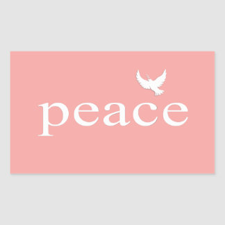 Coral Inspirational Peace Quote Stickers