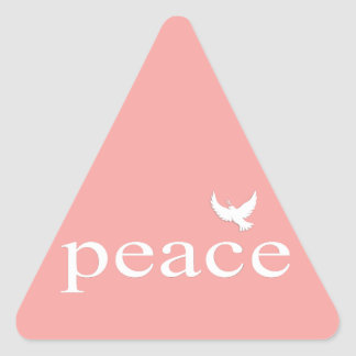 Coral Inspirational Peace Quote Triangle Sticker