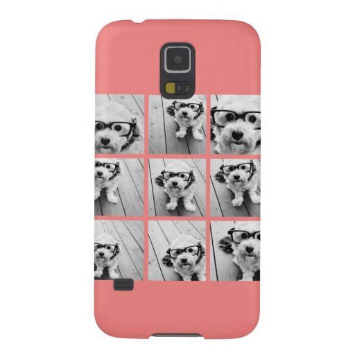 Coral Instagram Photo Collage with 9 photos Cases For Galaxy S5