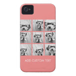 Coral Instagram Photo Collage with 9 photos Case-Mate iPhone 4 Case