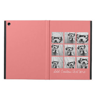 Coral Instagram Photo Collage with 9 photos Case For iPad Air