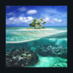 """Coral Island Canvas Print<br><div class=""""desc"""">Come,  explore the coral reef and enjoy the cool island breezes on your own private island.</div>"""