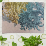 Coral Kitchen Towel