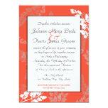 Coral Lace Rustic Wedding Custom Invitations